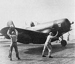 F4U-4 Corsair of VMF-461 on USS Leyte (CV-32) c1949.jpg