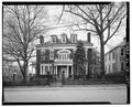 FACADE, FROM ACROSS WASHINGTON ST. - Richard A. Carrington House, 508 Washington Street, Lynchburg, Lynchburg, VA HABS VA,16-LYNBU,115-1.tif