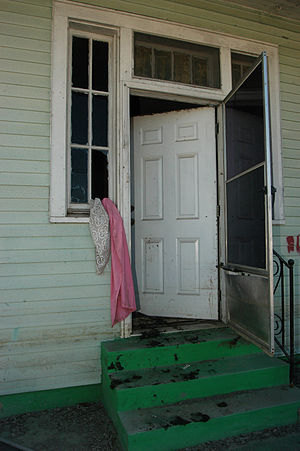 New Orleans, La., 10-20-05 -- The front door o...