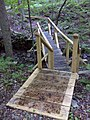 FLT M27 2.2 mi - Bridge, 19' long, 2x6x36 deck, two 6 in nat. log stringers, log on rock sills, 4x4 posts, deck with 5 steps of 2x10x36, 4' to drainage - panoramio.jpg