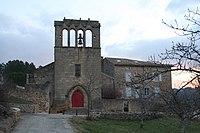 Facade église romane de Mercuer.JPG