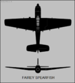 Fairey Spearfish two-view silhouette.png