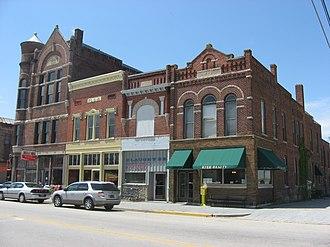 Farmland, Indiana - Farmland's downtown