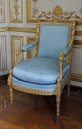 Louis XVI style - Image: Fauteuil Jacob cabinet méridienne Versailles