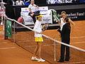 Fed Cup 2013 Germany vs Serbia - Prematch Barthel Ivanovic 03.jpg