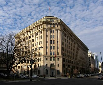 Federal Bureau of Prisons - The Federal Home Loan Bank Board Building, which houses the main office of the Federal Bureau of Prisons in Washington, D.C.