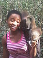 Feeding Mona Monkeys at Tafi Atome Monkey Sanctuary 03.jpg