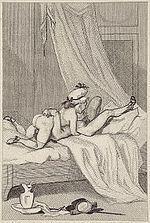 69 entre homme et femme. Gravure de Félicien Rops