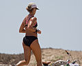 Female jogger with - Scenes from Morro Bay, CA.jpg