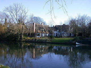 Fen Ditton village on the northeast edge of Cambridge in Cambridgeshire, England