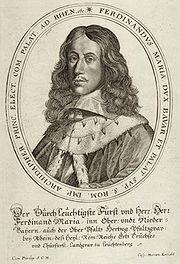 Ferdinand Maria, illustration from a coronation diary from 1658