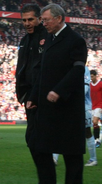 Carlos Queiroz - Queiroz with Sir Alex Ferguson during the Manchester derby against Manchester City on 10 February 2008