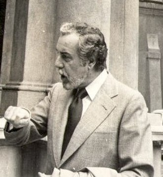 Fernando Rey - Rey at Palazzo d'Accursio, Bologna, on April 1974