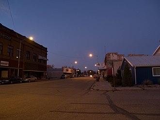 Fessenden, North Dakota - Night view of Fessenden