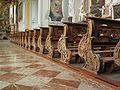 Fiecht Abbey, St Joseph church - 80 wooden reliefs on pewage by F.X. Nißl in 1772-1773.jpg