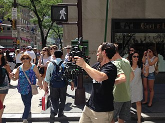 Camera stabilizer - Filming with a handheld camera stabilizer