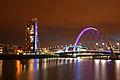 Finnieston Bridge Glasgow at night.jpg