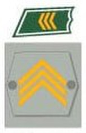 Sergeant - The collar and sleeve insignia of kersantti