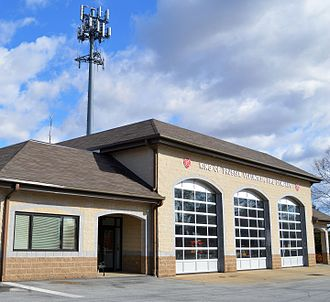 King of Prussia, Pennsylvania - Fire station in King of Prussia