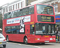 First Centrewest bus 2000 Dennis Trident 2 Plaxton President, TNL class (W VLN), Southall, route 427, 3 October 2009.jpg