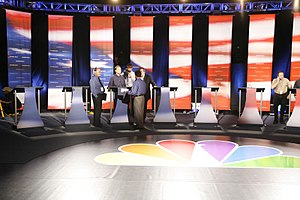Democratic Party presidential debates and forums, 2008 - Debate stage