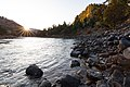 First light on the Yellowstone River near the Blacktail Creek confluence (48861730603).jpg