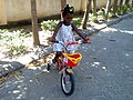 First time to ride a bike.jpg