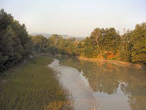 Reno (river) - The river near Sasso Marconi, at the beginning of its course in the Pianura Padana