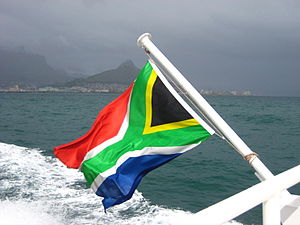 South Africa's beautiful post-apartheid flag, ...