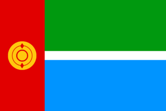 Chulyms - Image: Flag of the Chulym people