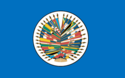 Seal of the Organization of American States on a blue background.