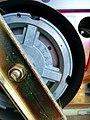 Flywheel of an Akai reel-to-reel tape recorder (16699300598).jpg