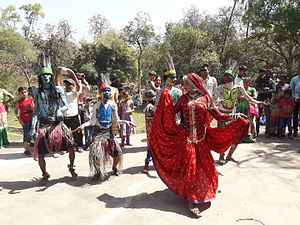 Kuno Wildlife Sanctuary - Saharia folk dancing in Rajasthan, 2017