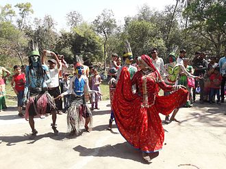 Saharia - Folks dance by Saharia tribe of Rajasthan in Kaleshwari Art Fair - 2017 held at Kaleshwari