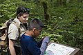 Forest Service Naturalist with boy at Baker Lake, Mt Baker Snoqualmie National Forest (32072628626).jpg