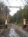 Forest track entrance to Gunoak Wood - geograph.org.uk - 1763523.jpg