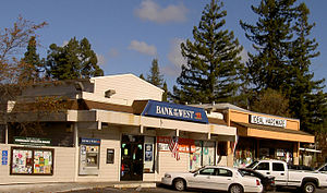 Forestville, California - Downtown Forestville in 2007.