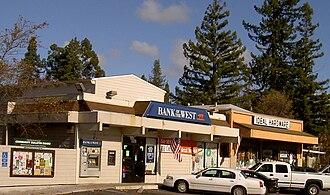 Forestville, California - Downtown Forestville in 2007.