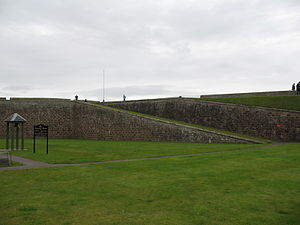 Fort George, Highland - Image: Fort George, Highland rampart