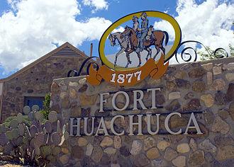 Fort Huachuca - Fort Huachuca entrance marker