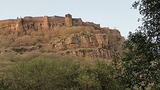 Alauddin Khalji's conquest of Ranthambore - Ranthambore Fort as seen from the ground