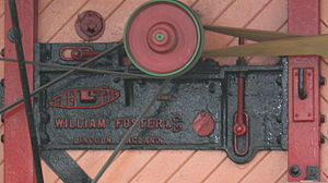 William Foster & Co. - Tank logo used on a threshing machine casting