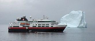 Hurtigruten AS - MS Fram in Upernavik, Greenland.