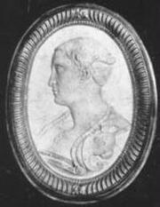 An anonymous cameo portrait of Francesca Caccini
