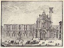 chiesa della Santissima Annunziata a Messina, in una incisione settecentesca