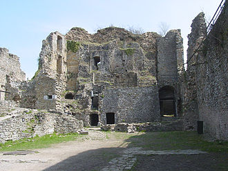 Franchimont Castle - The remains of the keep, from the inside