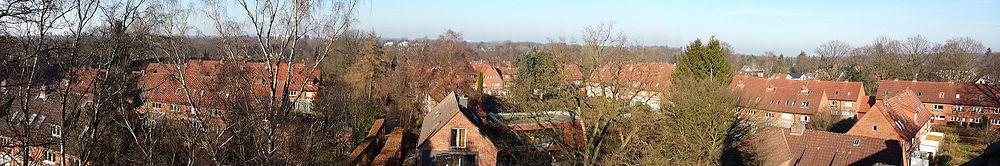 Frank'sche Siedlung in Klein Borstel von oben.jpg