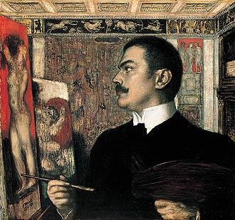 Franz Stuck - Franz von Stuck, self-portrait