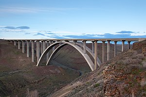 Interstate 82 - The Fred G. Redmon Bridge carries I-82 over Selah Creek north of Selah.
