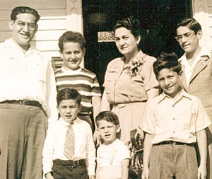 Fred Levin - Fred Levin (bottom right), with his parents and brothers in 1950